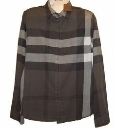 Nicholas K Brown Gray White Plaid Cotton Fancywork Men's Dress Shirt Sz XL  #NicholasK #ButtonFront
