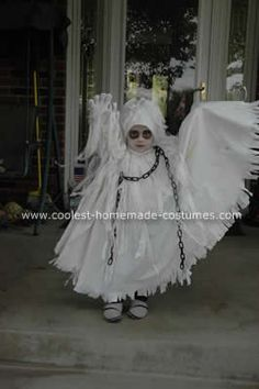 Spooky Ghost Halloween Costume. How cute!!!! Big dude said he wants to be a ghost for Halloween