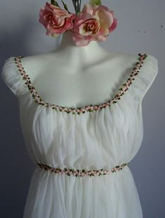 Vintage Canadian Maid White Nightgown