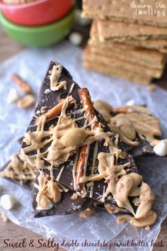Sweet 'n Salty Double Chocolate PB Bark 2c