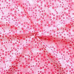 "Stretch Baumwollstoff ""Batik Sterne Mix 2"" in Pink"