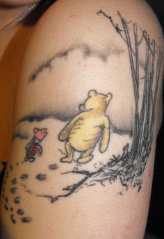 Winnie the Pooh and Piglet tattoo.  Done by Fred at STreet Road Tattooz in Bensalem, PA