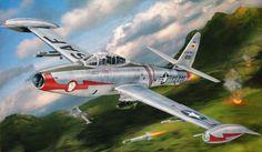 F-84G Thunderjet (Revell box art)