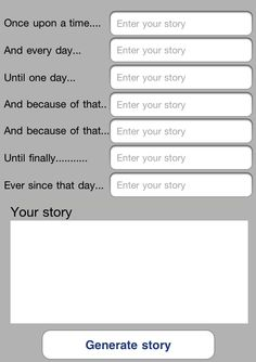 use Story Spine app to summarize a historical event or illustrate a scientific concept
