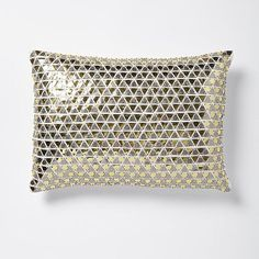 Triangle Sequins Pillow Cover - Gold/Silver #westelm