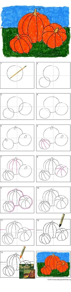 Art Projects for Kids: How to Draw a Pumpkin Tutorial
