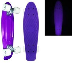 Get Blank Vinyl Plastic Cruiser Skateboard Complete Glow In The Dark W Penny Size 22. Ahh i cant even say how much i want this!! Ith would be so fun to ride on warm summer evenings! I honestly dont see a problem with these penny boards because they're just so awesome can adorable!! Anyone wanna buy me one?? ;)