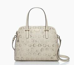 our popular cedar street maise bag was already pretty a-maise-ing. now in delicate perforated leather, it's perfectly everyday fancy — the cedar street perforated maise by kate spade new york (may 2014)