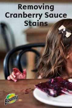 Learn how to easily remove cranberry sauce stains from your clothing, upholstery, or countertops with these easy tips. Use Bounty Paper Towels, rubbing alcohol, and white vinegar for a simple cleaning solution.