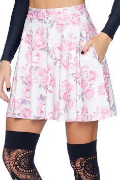 Pastel Goth Pocket Skater Skirt - LIMITED (AU $65AUD) by BlackMilk Clothing