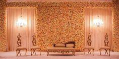 elegant stage decor, vintage stage decor, chandelier lighting, drape stage…