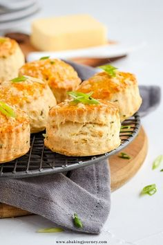 This Savory Scones recipe is perfect for afternoon tea, as a snack, appetiser, for breakfast or even your kids lunchbox meal. The Cheddar Cheese Scones are not only super easy and quick to make, they taste absolutely delicious, flaky and buttery. The simple scones with cheese will be great topped with butter, cheese or your favourite dips - or just eaten on their own. Cheese Scones, Savory Scones, Savory Muffins, Savoury Pastry Recipe, Savoury Baking, Savoury Cake, Afternoon Tea Recipes, Iced Tea Recipes, Butter Cheese