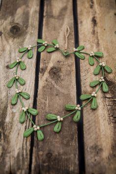 Tin Mistletoe Heart Wreath!  Available soon... www.mosscottage.ie