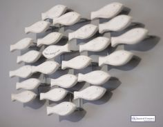 Shoal of Fish Wall Art - There is always one ! #coastal #decor nice on a grey painted wall
