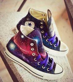 Imagen de converse, galaxy, and shoes