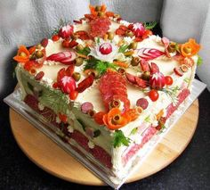 Sandwich Cake, Tea Sandwiches, Luncheon Recipes, Food Decoration, Food For A Crowd, Savoury Cake, Snack, Creative Food, Finger Food