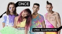 Check out my #lyric #illustration for the song #dnce by DNCE  #joejonas #jinjoo #jacklawless #colewhittle #band #music #paint #splatter #fashion #colorful #lyricseries #video #YouTube