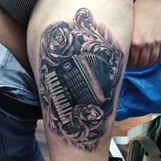 Tattoos.com   12 Charming Accordion tattoos for all you music lovers!   Page 11