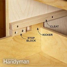 Save money by making wood drawer slides for the tool storage cabinets.