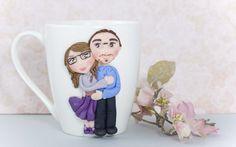 """tazza Mug """"My love"""" in ceramica con decorazioni realizzate a mano di telasimona su Etsy"""