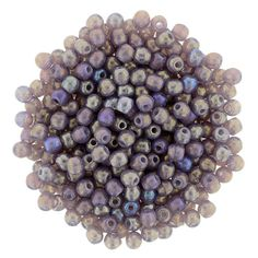 5-02-LR21010 Round Beads 2mm : Luster Iris - Milky Amethyst