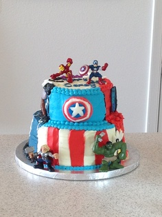 The Avengers Cake Part 1 - Captain America