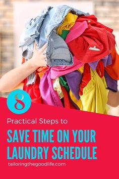 With these 8 practical steps, you build a schedule for laundry day so at the end of the day, you are finished for the week. Including extra tips to save even more time. #laundrytips #laundryschedule #laundryday #schedule #homemanagement Daily Routine Schedule, Day Schedule, Daily Routines, Doing Laundry, Laundry Hacks, Laundry Schedule, Raising Teenagers, Home Management, Planning Your Day
