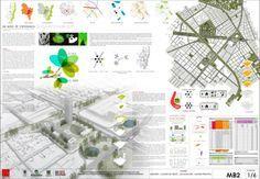1er puesto. Concurso Plaza de la Hoja. MGP Arquitectura y Urbanismo.Plancha 1/6. Visual Communication Design, Architecture Board, Urban Planning, Plaza, Design Reference, Urban Design, Layout, Architectural Presentation, Photoshop