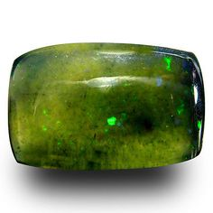Black Opals 181110: 2.95 Ct Aaa Amazing Cushion Cabochon Shape (14 X 9 Mm) Black Opal Loose Gemstone BUY IT NOW ONLY: $54.99