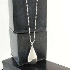 This stunning statement necklace is a little piece of art around large teardrop pendant in sterling silver on a long silver ball chain 179 http mozeypictures Gallery