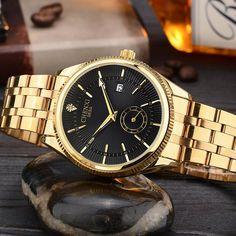 8ab578a8202 CHENXI Relógio De Ouro Dos Homens Relógios clássico Relógio de Pulso de  Luxo Famoso Relógio De