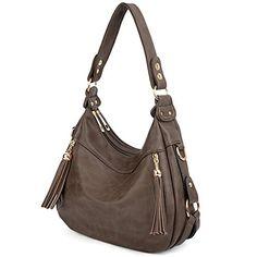 Buy Women Handbag PU Leather Purse Hobo Style Shoulder Bag - Khaki - and More Fashion Bags at Affordable Prices. Leather Hobo Handbags, Burberry Handbags, Leather Purses, Pu Leather, Leather Fashion, Vintage Leather, Handmade Leather, Hobo Purses, Purses And Handbags