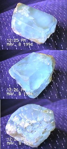 The Mineralogical Record - Idaho aquamarine, about fist-size. Call Rick Schubert, 208-830-8259.