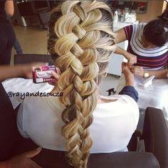 French four strand braid