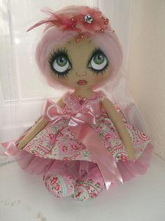 cloth art doll, by Handmade*dolls* .