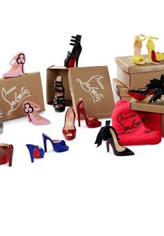 OMG Christian Louboutin Shoes for Barbie, Complete with their own shoeboxes!