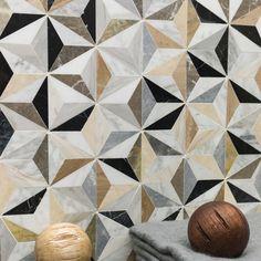 Phantasm Marble Tile - Contemporary - Mosaic Tile - by Ivy Hill Tile Marble Mosaic, Stone Mosaic, Mosaic Tiles, Tiling, Floor Patterns, Tile Patterns, Textures Patterns, Bathroom Floor Tiles, Tile Floor