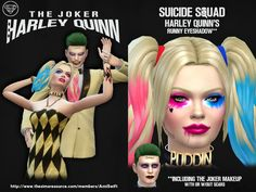 DC Comics inspired clothing based on the film Suicide Squad.  Found in TSR Category 'Sims 4 Female Eyeshadow'