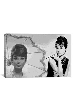 Canvas Print: Audrey Hepburn