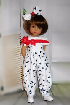 Handmade-romper-and-hair-bow-fits-Dianna-Effner-13-&-little-darling-doll