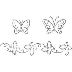 Pattern Detail | Butterflies | Needlecrafter Great site for free embroidery projects