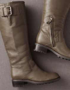 Boden: Chunky Taupe Boots