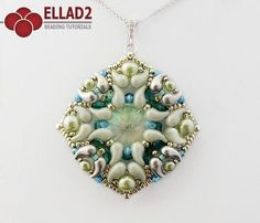 Make your own Zuzu Pendant with Zoliduo beads and Swarovski crystals... Beading Tutorial for Zuzu Pendant is very detailed, easy to follow, step by step.