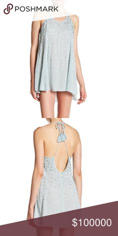 "COMING SOON!!! Just Watch Me Slip Sequin Halter Just watch me slip Sequin halter dress from Free People. Sky blue color. 100% viscose. Approx 29"". Bust: 34"" waist: 24"" hip: 34"". Halter with tie closure. Open back with all over Sequin. Partially lined. Free People Dresses Mini"