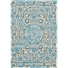 Add cool style to your decor with the Room Envy Pismo Indoor Rug - Azure. This floral-inspired area rug boasts a central medallion and subtle border. Choose from the available sizes to find the ideal fit for your space. Made in India. Made in India. Floral Theme, Floral Rug, Floral Motif, Joss And Main, Large Area Rugs, Blue Area Rugs, Machine Made Rugs, Accent Rugs, Indoor Rugs