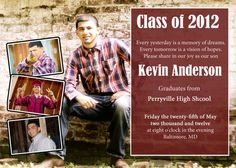 High School Graduation Invitations | Custom Graduation Invitation High School by keepsakesbychristy, $10.95