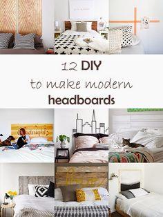 Ohoh Blog - diy and crafts: DIY Monday # Headboard