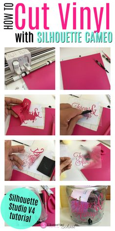 cricut vinyl projects Cutting vinyl with the Silhouette CAMEO or Portrait is arguably easier than cutting anything else on the machine. You want to first start by making sure you Silhouette Cameo Tutorials, Silouette Cameo Projects, Silhouette School Blog, Silhouette Cameo Vinyl, Silhouette Curio, Silhouette Machine, Silhouette Portrait Projects, Silhouette Files, Shilouette Cameo