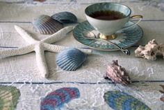 tea and shells