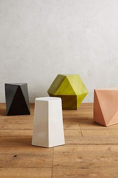 Loving these new geometric side tables from Anthro